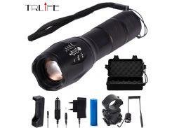 LED Flashlight 10000Lumens T6/L2/V6 Lamp Bead Tactical Flashlight Hunting Flash Light Torch Lamp+18650 Battery+Charger+Gun Mount