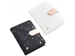 Galaxy Star Zodiac Notebook Starry Star Moon PU Leather Notebook Diary Planner School Supplies Office Accessories For Students