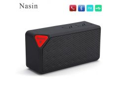 Nasin X3 Bluetooth Speaker Fashion Style TF USB Wireless Portable Music Sound Box Subwoofer Loudspeakers for huawei xiaomi