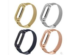new band straps For Xiaomi Mi Band 2 3 band Metal Wrist Strap Milanese Belt For Miband 3 2 Bracelet Wristband
