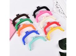 10Colors Purse Frame Handle for Clutch Bag Handbag Accessories Making Kiss Clasp Lock For Bags Parts 1PCS