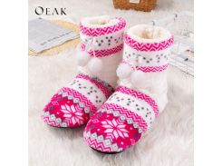 Winter New Shoes Woman Home Slippers Girls Christmas Indoor Shoes Warm Contton Slipper Plush Pantufa Soft 2018 Oeak 44