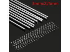 4pcs 3mmx225mm Silver Aluminum Alloy Welding Rod Low Temperature Metal Soldering Brazing Wire Solder TIG Filler Rods