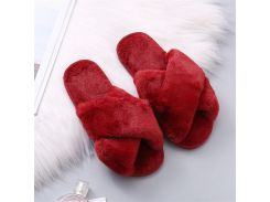COOTELILI Women Home Slippers Winter Warm Shoes Woman Slip on Flats Slides Female Faux Fur Slippers 36-41 wholesale