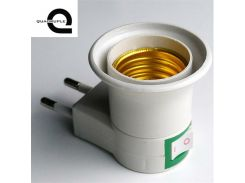 Quadruple High Quality E27 Lamp Base EU Plug Lamp Holder Converter Screw Mouth Type Light Holder Mobile Round Foot Lamp Bases