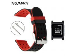 Quick Release Silicone Rubber Watchband for Pebble 2 / 2 SE Smart Watch Band Sports Strap Wrist Belt Bracelet Black Red White
