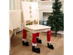 eTya Christmas Table Leg Chair Foot Stool Sleeve Furniture Legs Protective Covers Xmas Party Decorations Level Feet Cabinet Legs