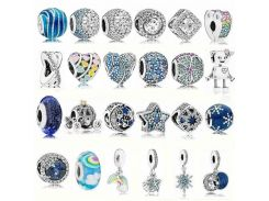 Fashion 925 Sterling Silver DIY Beads Fit Pando Bracelets Jewelry Beads Charms Silver Beads Pandora Bracelet Jewelry Accessories