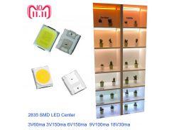 Full Voltage  High Brightness 2835 SMD LED Chip 1W 100PCS 18V  9V 6V 3V White LED Fast Delivery Via Aliexpress Air Mail