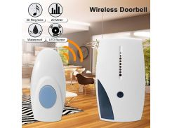 2018 Smart LED Indication Wireless Doorbell 36 Tunes Chime Music Door Bell Transmitter + Receiver 70-110M Range Remote Control