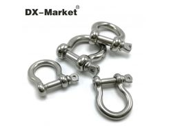 m16 , 304 stainless steel bow shackle , high quality antirust shackle , sus304 m16 bow shackle