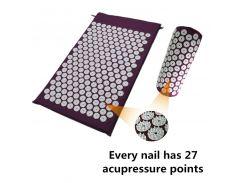 Shakti Mat Cushion Mat Massager Relieve Acupressure Mat Body Pain Acupuncture Spike Yoga Mat with Pillow