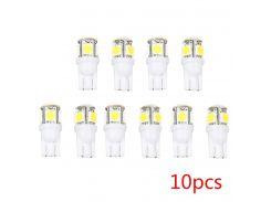 10pcs T10 5050 5SMD LED Car Interior Light Signal Lamps Wedge Light Bulbs White