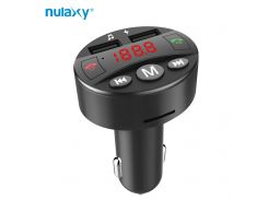 Nulaxy Car MP3 Player Audio FM Modulator Bluetooth FM Transmitter Hands-free Car Kit USB Charger Support TF Card USB Disk