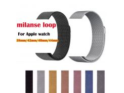 Series 4/3/2/1 magnet metal strap for Apple Watch Band Milanese loop belt for iwatch wristband Stainless Steel 38/42mm 40mm 44mm