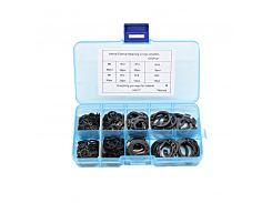 200Pcs M6-M20 Internal External Retaining Circlips C-clip Washers Snap Retaining Ring Carbon Steel Assortment Kit HW177