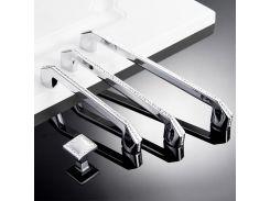 Crystal Dresser Pull Drawer Knobs Pulls Handles Glass Rhinestone Cabinet Door Handle Silver Modern Hardware Bling Decor