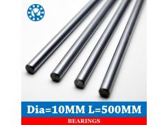 2pcs 10mm Linear Shaft Chrome OD 10mm Length 500mm For Cnc Parts WCS Round Steel Rod Bar Cylinder Linear Rail
