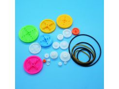 Mixed19 Kinds of Belt Wheel and 6 Kinds of Belt Model Unmanned Robot Toy Parts Technology DIY Pulley Accessory MIX25
