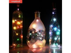 2017 Hot Sale 20 LED Chic Cork Shaped Night Starry Light Wine Bottle Lamp For Xmas Decor Cool