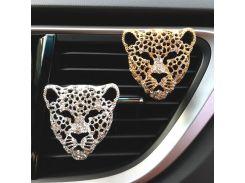 Bling Car Air Freshener In Auto Interior Decor Aroma Car Diffuser Vent Clip Diamond Leopard Solid Perfume Car Accessories Auto