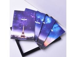 Creative Galaxy Eiffel Tower Chocolate Notebook Stars Sky Kawaii Notepad Diary Agenda School Bts Stationery Store Bullet Journal