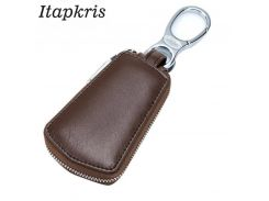 Itapkris New Fashion Women Men Leather Housekeeper Zipper Key Wallet Best Selling Organizer Car Key Holder Keyring Case