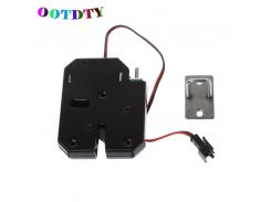 OOTDTY 150KG/330lb Electromagnetic Electric Control Cabinet Drawer Lockers For 12V DC Lock Latch Carbon Steel Black Door Access