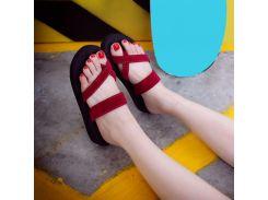 2018 Summer Women Casual Sandal velvet cloth Slippers Anti-skid Beach Outdoor Open Toe Peep-toe Flat Heel Shoes
