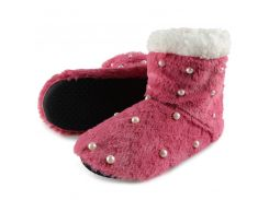 2018 Winter Women Warm Cotton Home Slippers Indoor House Socks Shoes Ladies Woman Plush Insole Floor Pearl Slippers