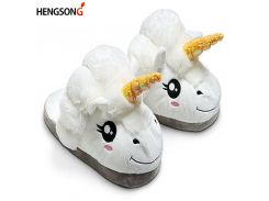 New Winter Indoor Slippers Plush Home Shoes Unicorn Slippers for Grown Ups Unisex Warm Home Slippers Shoes 4 Types