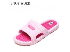 E TOY WORD Summer slippers Bathroom Non-slip ladies home Indoor slippers thick bottom home women slippers soft bottom slippers