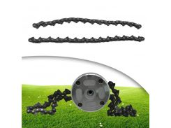 2pcs Chain Type Chain Blade Wood Cutting Chainsaw Woodworking Accessories Grass Trimmer Head Chain