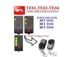 2pcs BFT TE01, BFT TE02, BFT TE04 Universal remote control replacement Fixed code 433.92MHz high quality