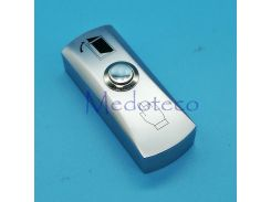 2pcs High Quality Metal exit switch button for access control system slim size No/com Door Exit Button