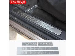 304 STAINLESS STEEL FOR LAND ROVER DISCOVERY SPORT 2015 2016 2017 2018 INNER CAR DOOR SCUFF PLATE DOOR SILL PROTECTION COVER