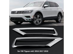2 x for Volkswagen for VW Tiguan Mk2 2016 2017 2018 Car Fog Light Cover Trim Front ABS Chrome Decoration Sticker Car Styling