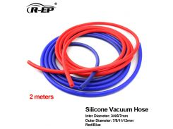 R-EP turbo SILICONE PIPE FOR CARRO supercharger ID 3x7 4x8 6x11 7x12mm hood air intake vacuum hose FOR CAR BLUE RED tube pipe 2m