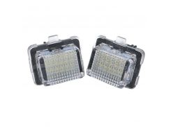 2 Pcs LED License Number Plate Light Bulbs Lamps for Mercedes Benz W204  M8617