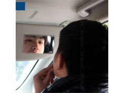 2018 New Stainless Steel Cosmetic Mirror Car Sun Visor Mirror Makeup Mirror Practical Car Supplies Decorative