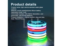 2pcs  LED Cup Coasters Slot Pad R Design Protective Mat for Volvo for Ford for Audi Accessories Car Styling