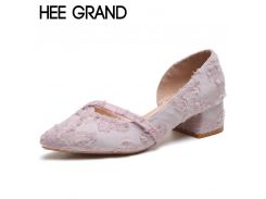 HEE GRAND Faux Fur High Heels Spring Gladiator Pumps Wedding Shoes Woman Pointed Toe Women Pumps Sexy Women Shoes XWD6885