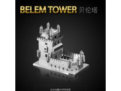 HK NanYuan Metal World 3D Metal Puzzle Portugal Belem Tower Architecture DIY 3D Laser Cut Models Jigsaw Toys - B31137