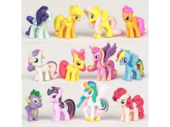 12pcs My Pet Little Mlp Mini Action Figures Set Toy Doll Birthday Party Gift   Ponies