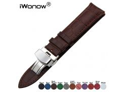 Genuine Leather Watch Band for Gear S2 Classic R732 R735 Moto 360 2 42mm Men Pebble Time Round 20mm Bradley Wrist Strap Bracelet