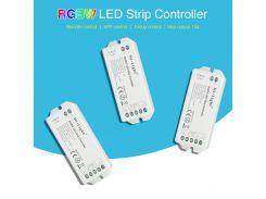 DC12~24V Mi-Light RGBW LED Strip Controller Max Putout 15A 2.4G Smartphone APP/Remote Control For 3528 5050 RGBW LED Strip Light