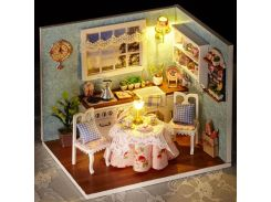 3D DIY Doll House Wooden Baby Doll Houses Miniature Dollhouse Furniture Kit Toys for Children Grownups Birthday Gift