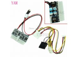 DC 12V Pico ATX Switch PSU Car Auto Mini ITX High Power Supply Module 160W 24Pin S08 Drop ship