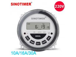 Multipurpose TM619H-2 220VAC 7 Days Digital Time Switch for Light Controls with Waterproof Cover and Replace Battery