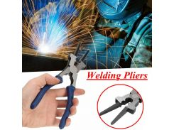 Carbon Steel Flat Mouth MIG Welding Pliers Insulated Handle for Welding Torch Mig Wire Cutting Multipurpose Tools Spring Loaded